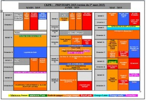Calendrier Printemps 2015 version du 25 février 2015